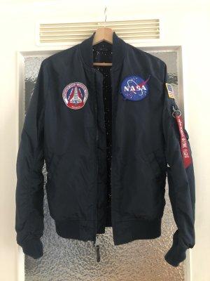 Alpha Industries Bomber Jacket dark blue