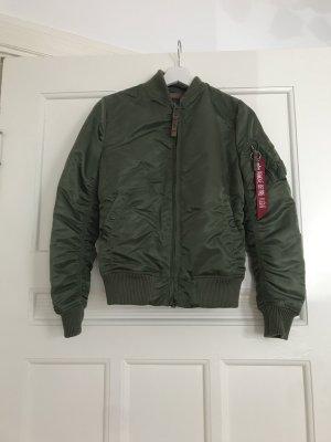 Alpha Industries Bomber Jacket olive green nylon