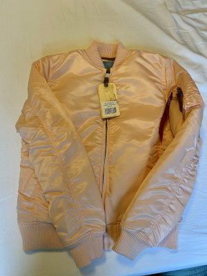 Alpha Industries Bomber Jacket silver-colored-light pink
