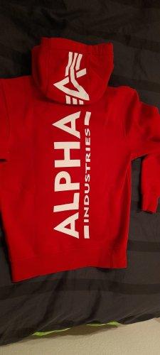 Alpha Industries Jersey con capucha rojo