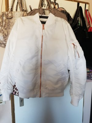 Alpha Industries Chaqueta bomber blanco-color rosa dorado