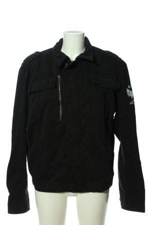 Alpha Industries Veste en jean noir-gris clair style décontracté
