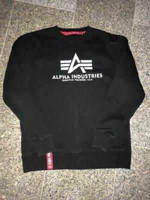 Alpha Industries Jersey de cuello redondo negro