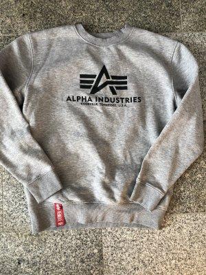 Alpha Industries Jersey de cuello redondo gris