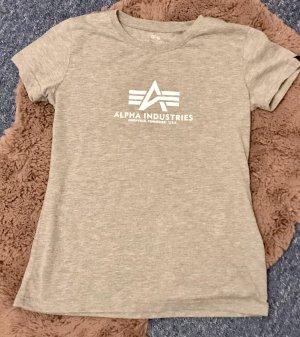 Alpha Industries Camiseta gris claro