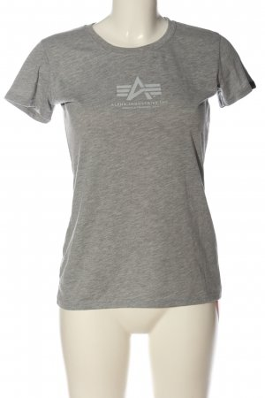 Alpha Industries Camiseta gris claro-blanco moteado look casual