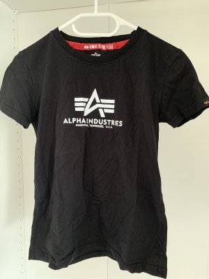 Alpha Industries Camiseta negro-blanco