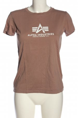 Alpha Industries Camiseta marrón letras impresas look casual