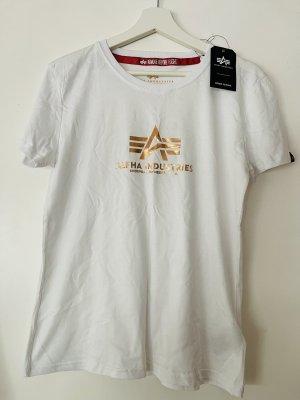 Alpha Industries T-shirt wit-roségoud