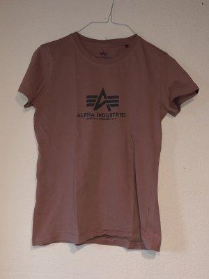 Alpha Industries T-shirt imprimé or rose-gris