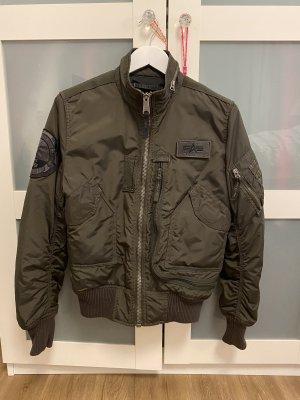 Alpha Industries Giacca bomber cachi-grigio-verde