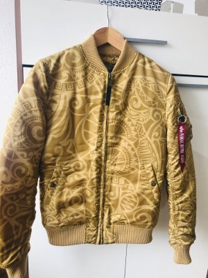 Alpha Industries Chaqueta bomber marrón arena-color bronce