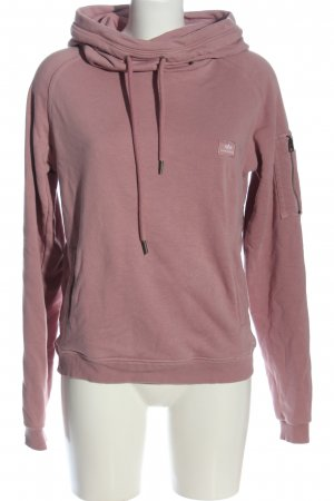 Alpha Hooded Sweater pink casual look