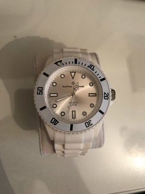 Alpha Analog Watch white-silver-colored