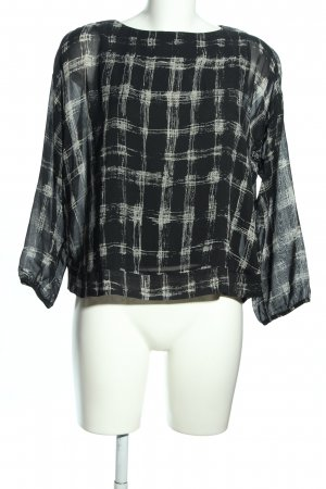 Alpha Studio Long Sleeve Blouse black-white check pattern casual look