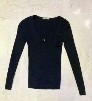 Alpha Studio Sweter z dekoltem w kształcie litery V czarny