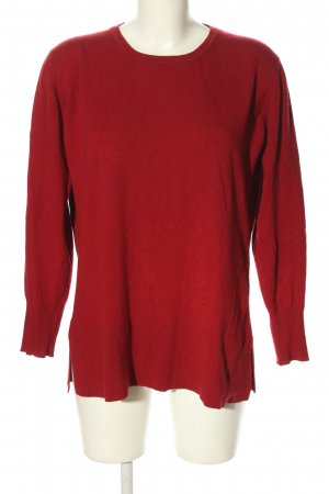 Alpha Studio Crewneck Sweater red casual look
