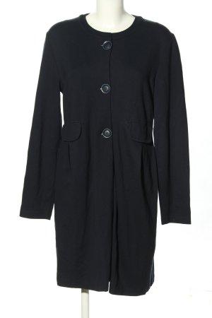 Alpha Studio Manteau en tricot noir moucheté style décontracté