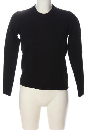Alpha Studio Maglione lavorato a maglia nero stile casual