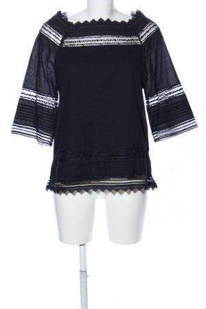 Alpha Studio Tunic Blouse black striped pattern casual look