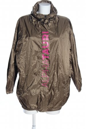 Alpha Tauri Raincoat bronze-colored-pink printed lettering casual look