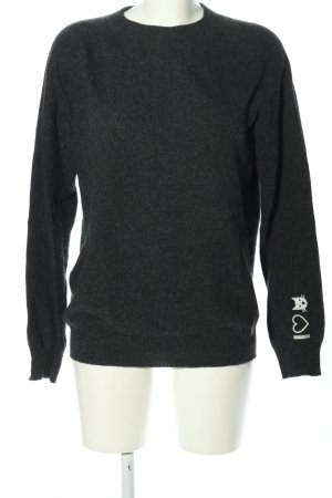 Alpha Tauri Wollpullover schwarz Casual-Look