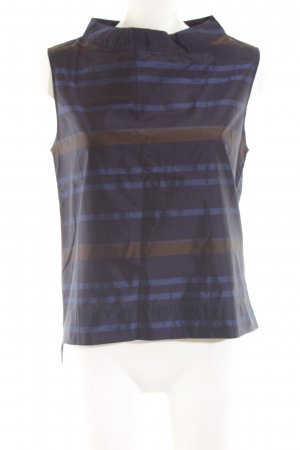 Alpha Strappy Top blue-bronze-colored striped pattern casual look