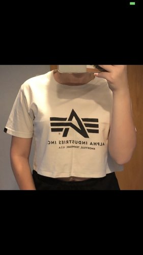 Alpha Industries T-shirt wit-zwart