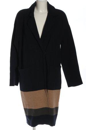 Alpha Wełniany płaszcz Wielokolorowy W stylu casual