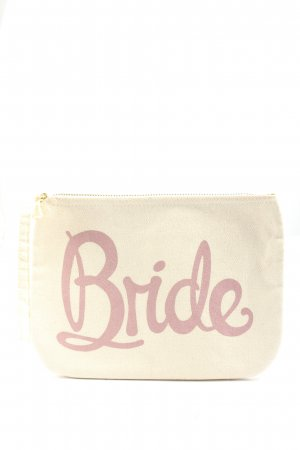 Alphabet Clutch wit-roze gedrukte letters casual uitstraling