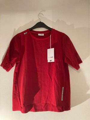 AlphaTauri Siateczkowa koszulka czerwony