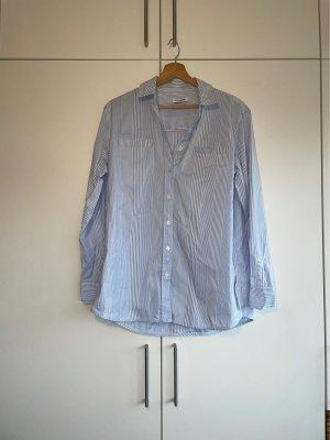 Alpha Tauri Camicia blusa bianco-azzurro Cotone