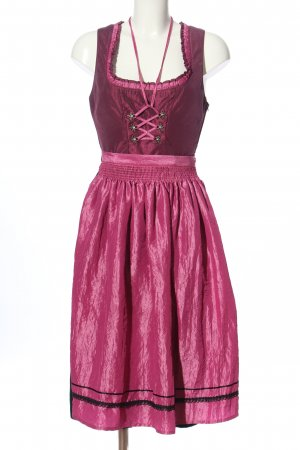 Alphorn Dirndl roze-zwart elegant