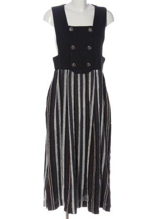 Alphorn Dirndl nero-grigio chiaro motivo a righe stile classico