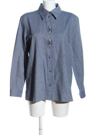 Alphorn Long Sleeve Shirt blue flecked casual look