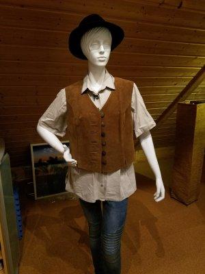 Alphorn Leather Vest brown