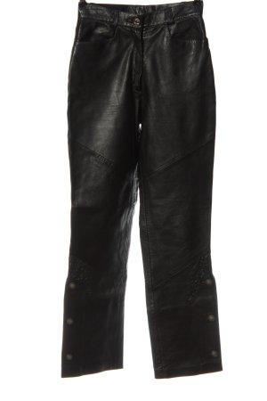 Alphorn Pantalon en cuir noir style extravagant