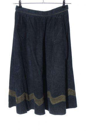 Alphorn Leather Skirt blue casual look