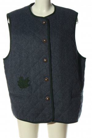 Alphorn Pikowana kamizelka niebieski Pikowany wzór W stylu casual