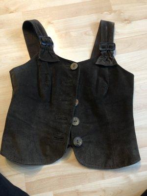 Alphorn Traditional Vest dark brown