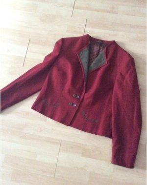 Alphorn Tradycyjna kurtka brązowo-czerwony-zielono-szary