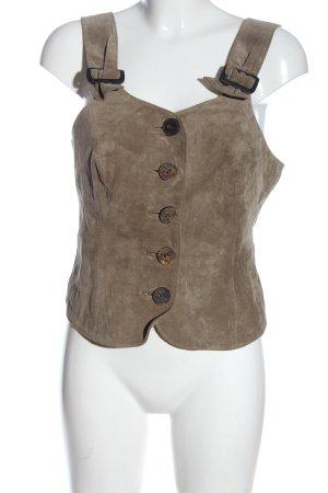 Alphorn Gilet bavarois brun style classique