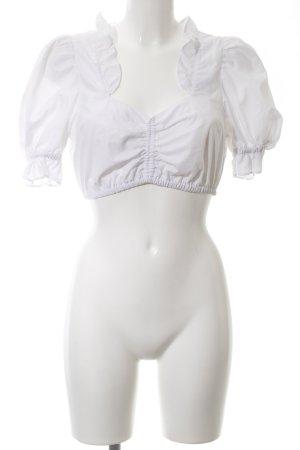 Alphorn Blusa tradizionale bianco elegante