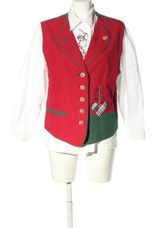 Alphorn Folkloristische hemd veelkleurig klassieke stijl