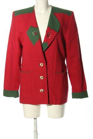 Alphorn Veste bavaroise rouge-vert style classique