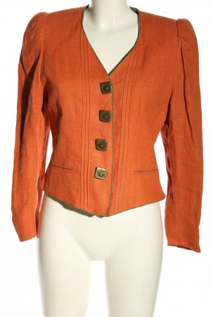 Alphorn Veste bavaroise orange clair style classique