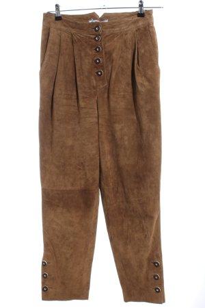 Alphorn Pantalón de cuero tradicional color bronce estilo extravagante