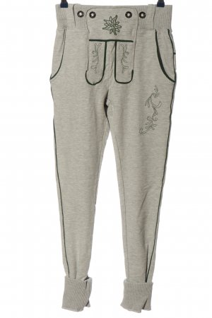 Alpin de luxe Baggy Pants light grey-green flecked casual look