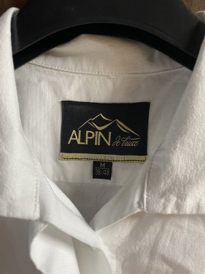 Alpin de luxe Traditional Blouse white-red