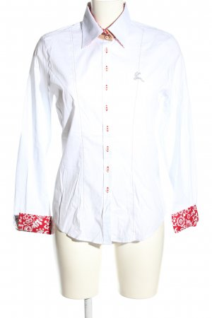 Alpin de luxe Long Sleeve Shirt white-red business style